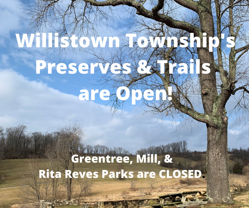 Preserves and Trails Open